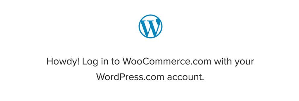 Log into WooCommerce.com with WordPress.com