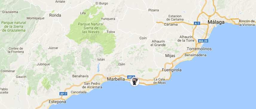 Mapa Google de la oficina de ProWoos en Marbella, España